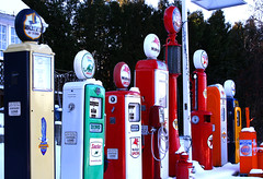 vintage gasoline pumps