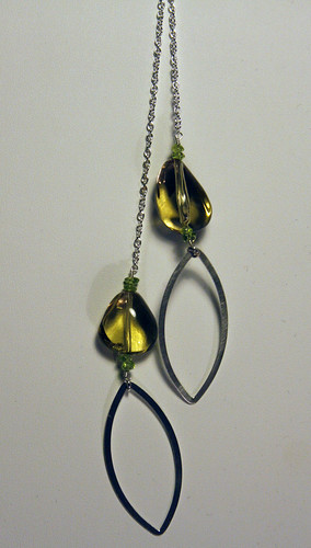 Citrine and Peridot Lariat