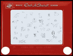 Etch-a-Sketch zoo. Anonymous