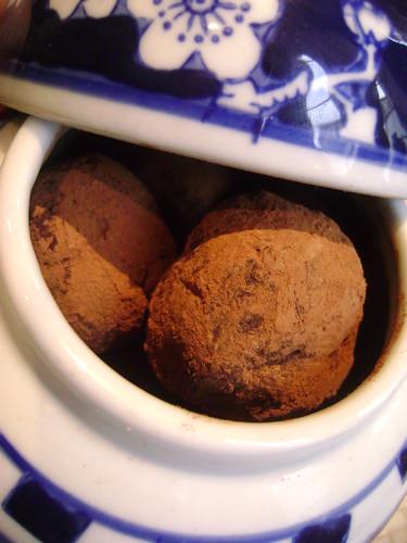 Chocolate , Orange & Stem Ginger Truffles