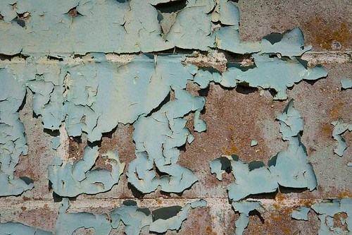 Peeling paint by you.