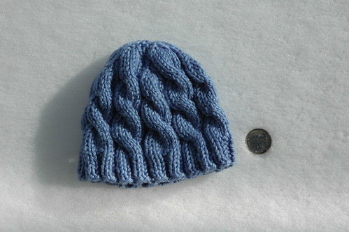 Cabled Baby Hat for Boy