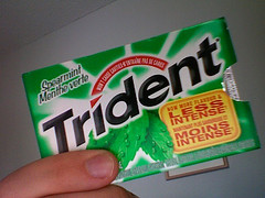 Trident Gum, Now Less Intense