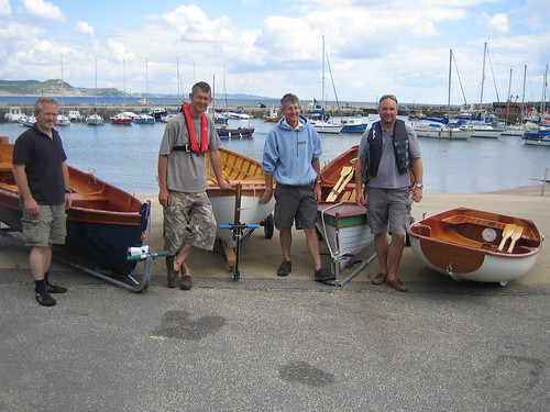 Four boats launched at Lyme Regis