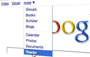 Google Reader - More Menu - Reader