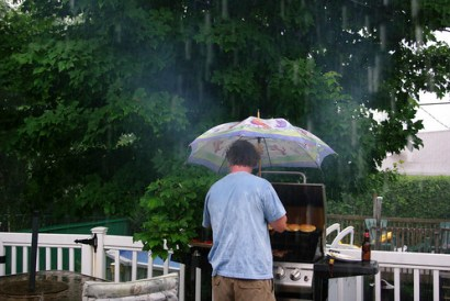 BBQ in the Rain...