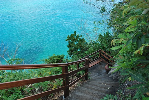 The stairs down to Kubu Beach.