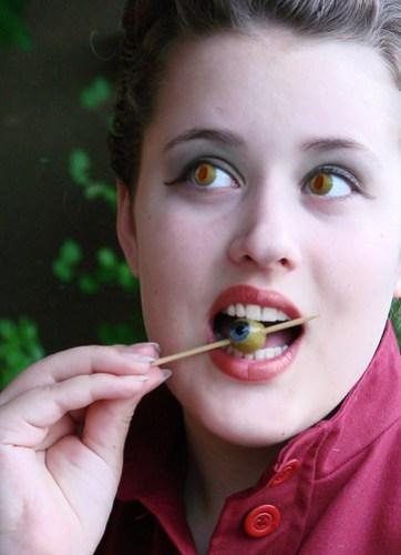olive eyes