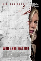 While She was out poster movie