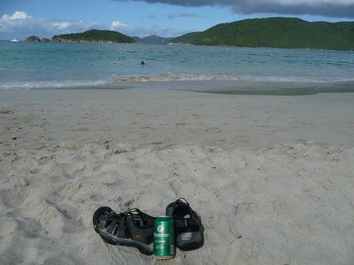My Keen Newports at Cinnamon Bay in St. John
