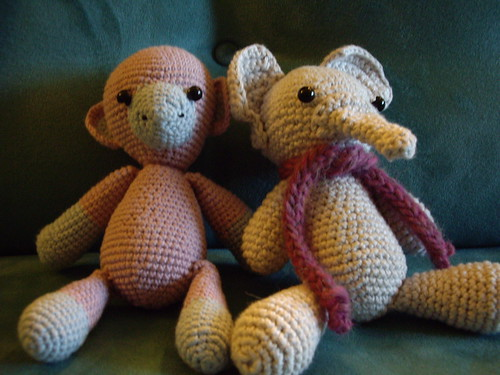 Fanty & Monkey - just two of the critters you could make. The possibilities are endless