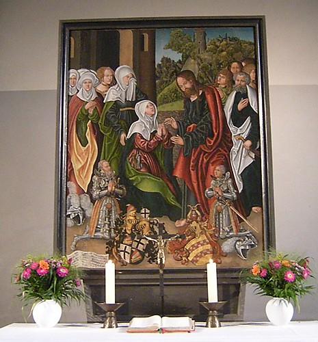 Dorfkirche Schöneberg - Altarbild aus Cranachs Werkstatt