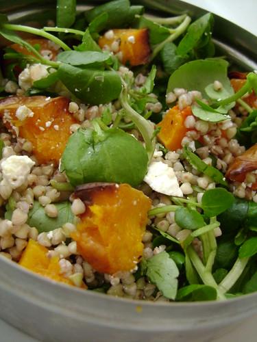 Butternut Squash , Buckwheat , Watercress , Walnut and Goats Cheese Salad