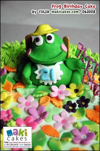 Frog Birthday Cake - Maki Cakes