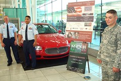 BWI USO METRO Welcomes Maserati of Baltimore to celebrate Freedom of Motion July 2, 2008