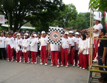 Lambaian Bendera Start Oleh Dirut PT Semen Padang