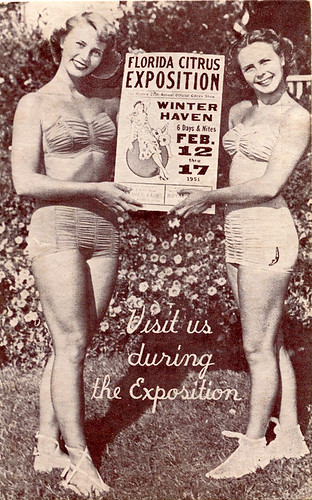 Swimsuit Girls promote the Florida Citrus Exposition,1951 by StevenM_61