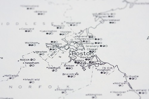 Detail of map of graves