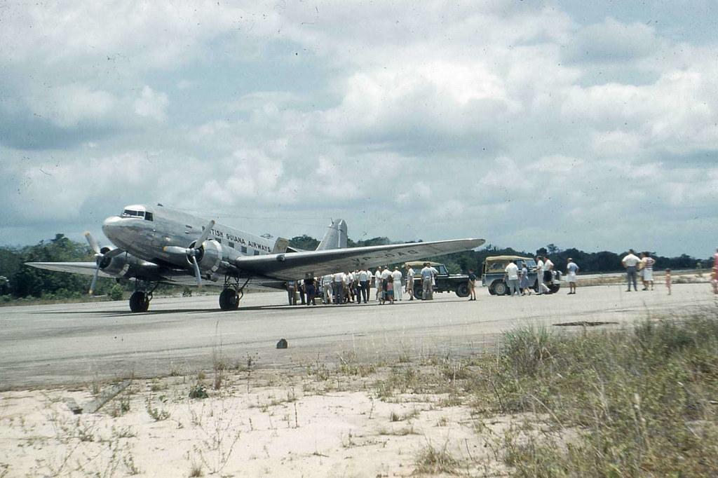 Dakota loading at Mackenzie airfield, British Guiana