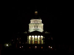 California State Capitol at night by Rojer via Flickr