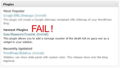Wordpress FAIL