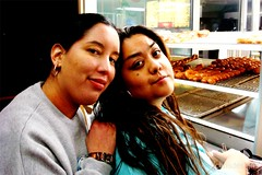 Janel and Bobbie at Donut Man