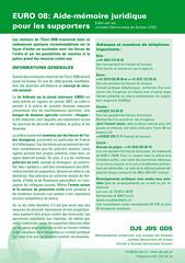 Euro08 aide-mémoire juridique