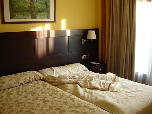 La soledad del cuarto del hotel