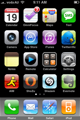 My iPhone's Home Screen - 1