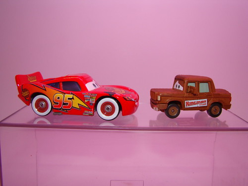 Chase Fred and Lightning McQueen