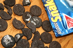 what happens when I try to print out the entries--- someone swipes the oreo guts...