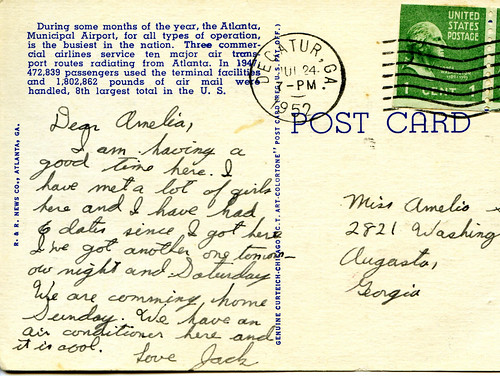 Postcard From Uncle Jack, Augusta, Georgia, July 2008, photo © 2008 by QuoinMonkey. All rights reserved.