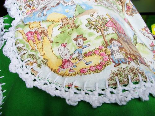 Nursery Rhyme Picot Edged Blanket
