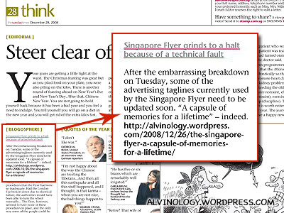 Sunday Times, 28 Dec 2008
