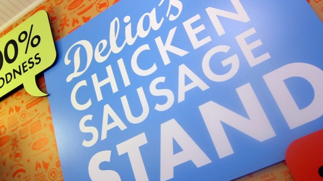 signage from delia's