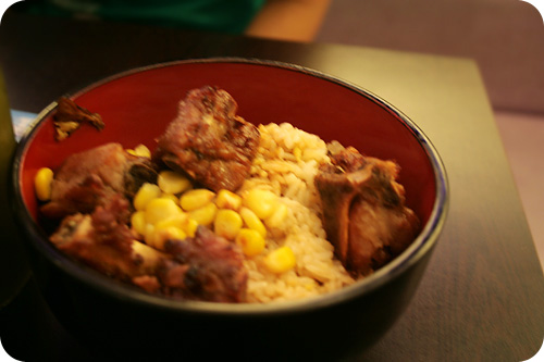 KG pork ribs rice