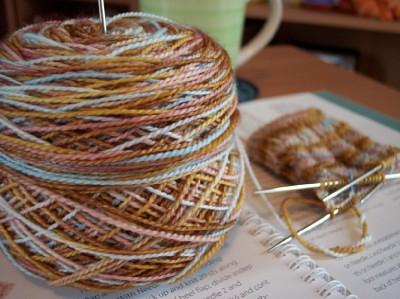 waving lace sock 2 - web