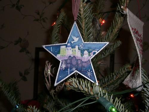 Blue star ornament