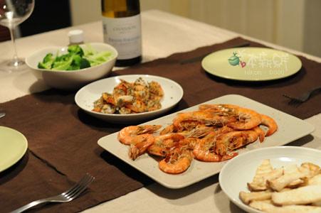 豐盛的晚餐