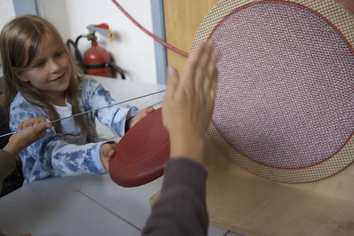 Frisbee in Strömung
