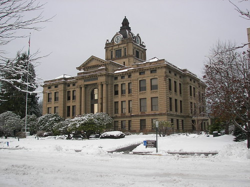 Our beautiful courthouse in the snow.