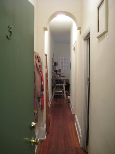 upon entering