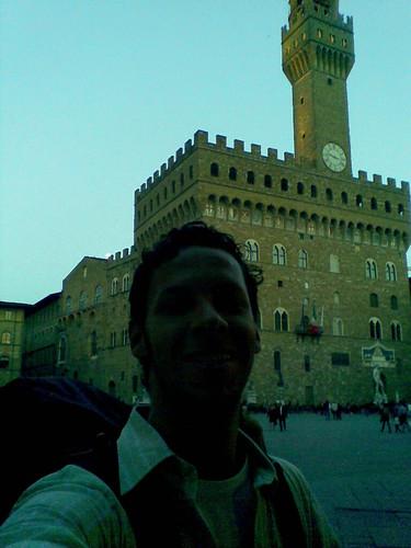 Chegada em Firenze, na Piazza della Signoria