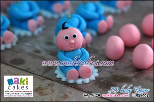 3D Baby Topper - Maki Cakes