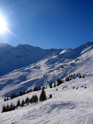 Steep slopes of Les 7 Laux.