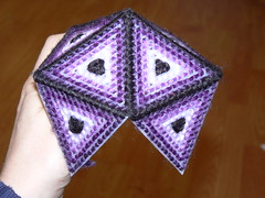 Plastic Canvas Icosahedron - Adding Triangles to Original Five Piece Cap