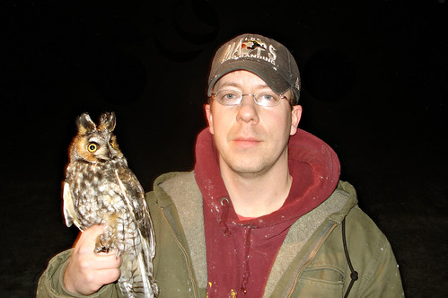 Tom with HIS Long-eared owl