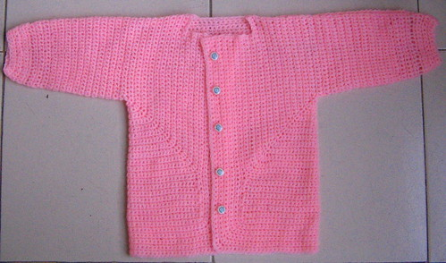 EZ's Baby Surprise Jacket modified for crochet  (1/2)
