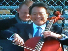 Yo-Yo Ma Playing at the Inauguration