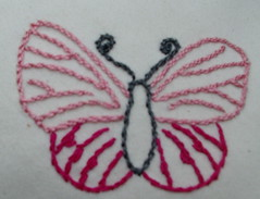 two tone pink butterfly
